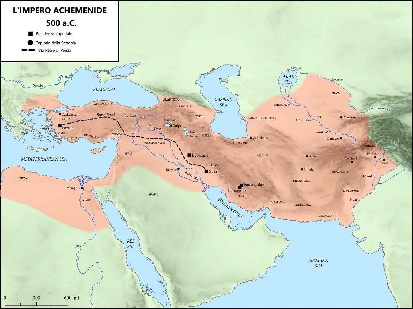 La Via Reale di Persia, nucleo originario della via della seta