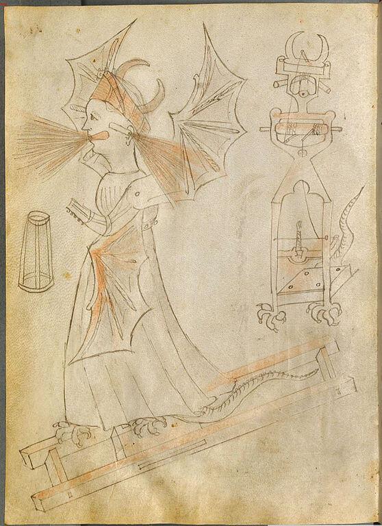 Disegno dal Bellicorum di Giovanni Fontana
