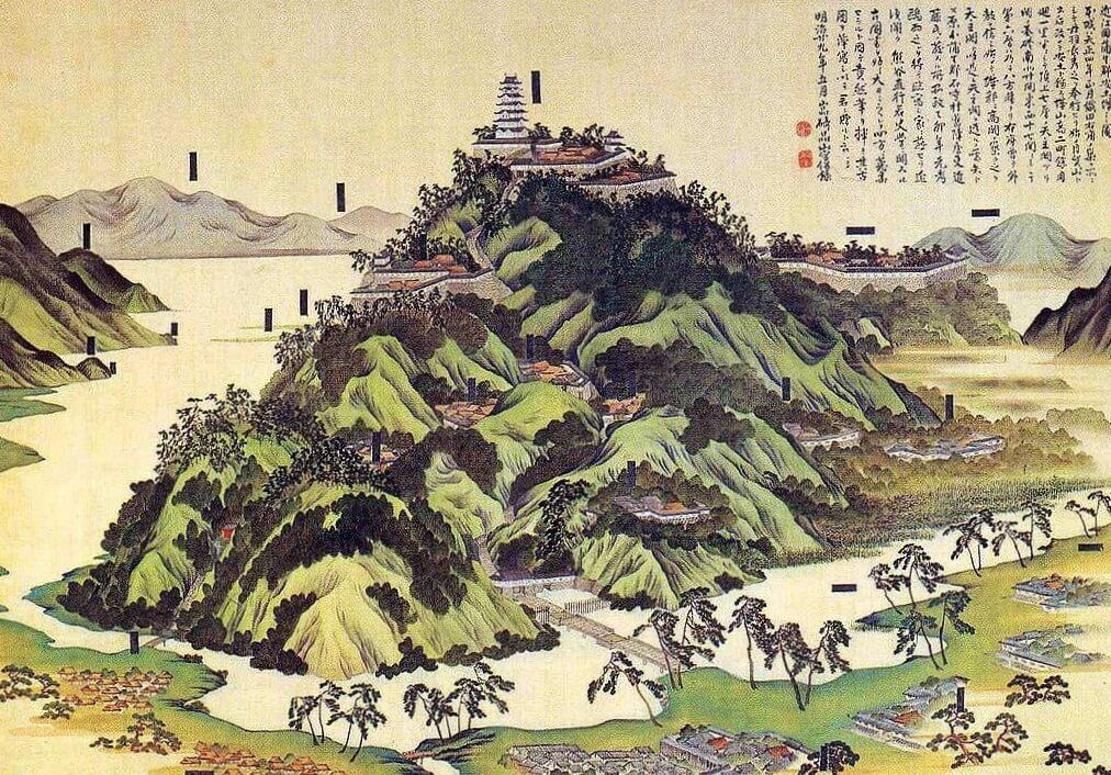 Il castello di Azuchi fu il primo esempio di castello giapponese moderno