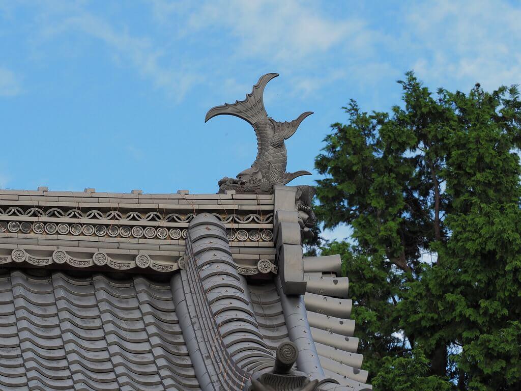 Uno shachihoko, divinità che proteggeva castelli e templi dagli incendi