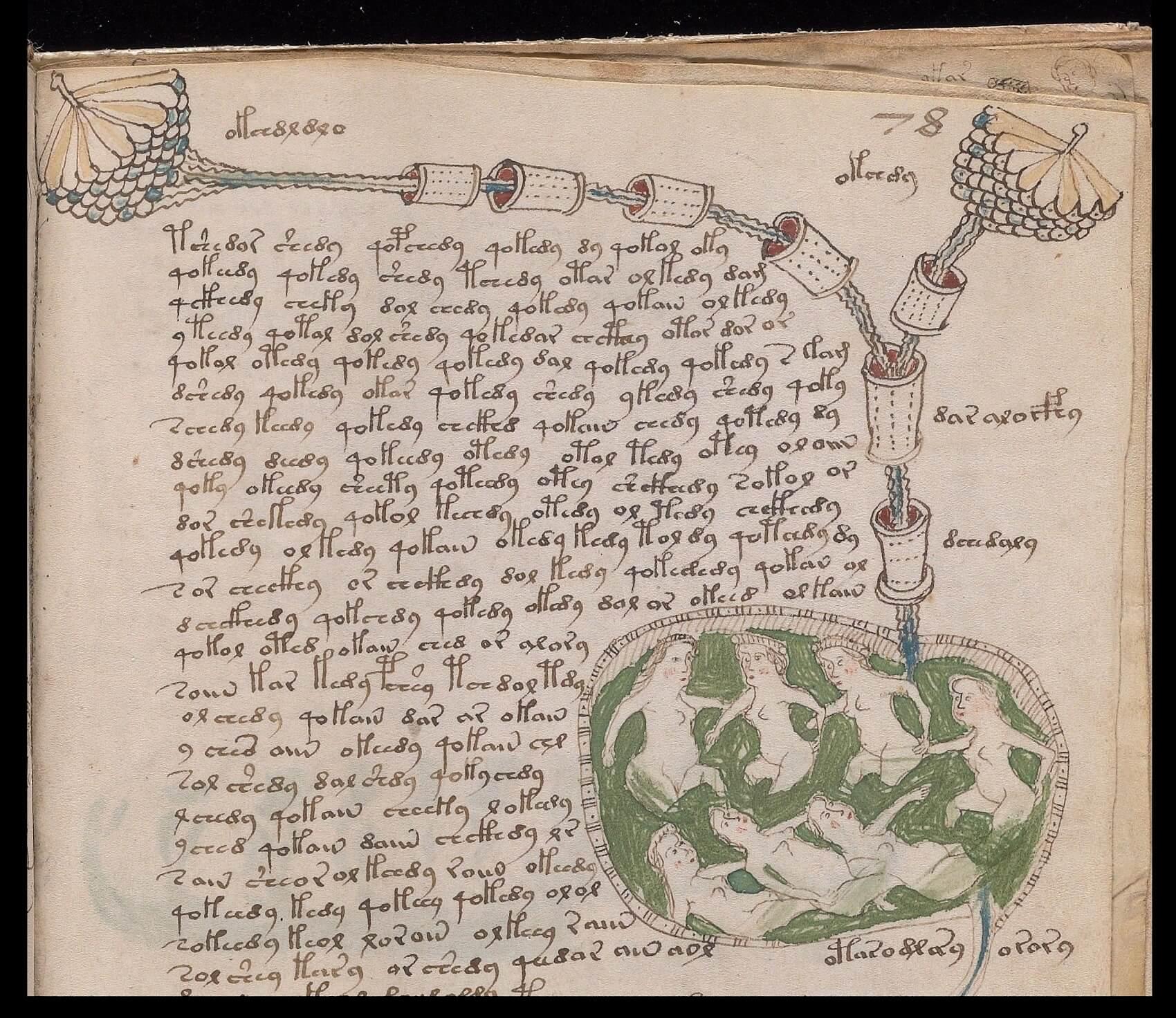 Particolare foglio 78r, Yale University Library