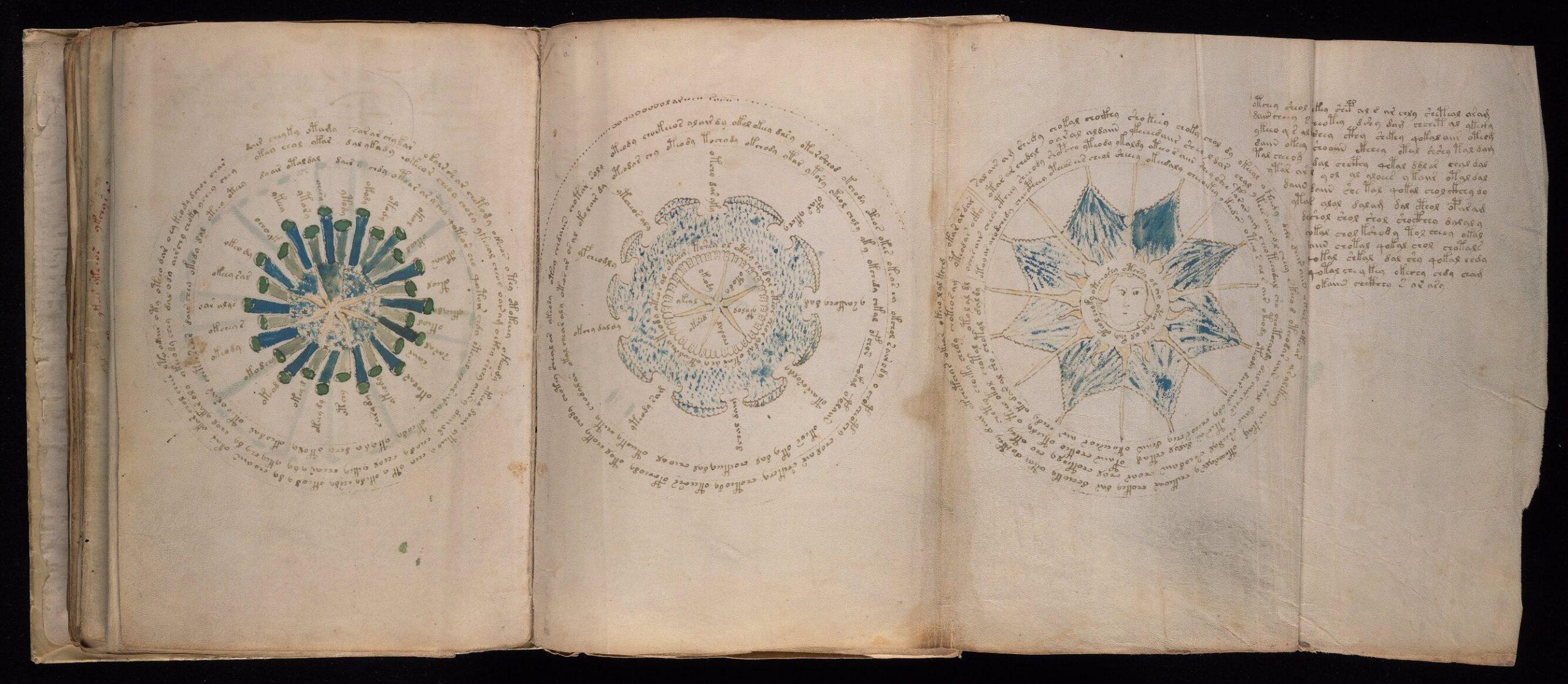 Manoscritto Voynich, foglio 69v e 70r, Yale University Library