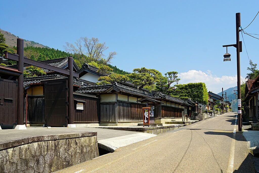 Uno scorcio di Chizu-shuku, stazione di posta del periodo Edo