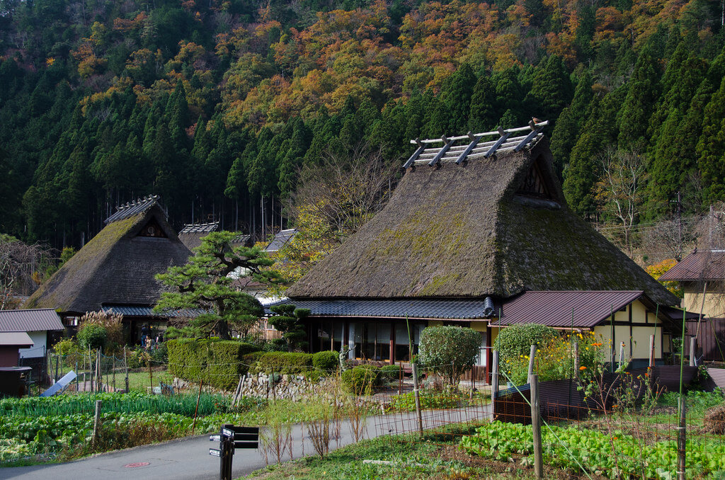 Miyama e le sue abitazioni tradizionali chiamate Kayabuki