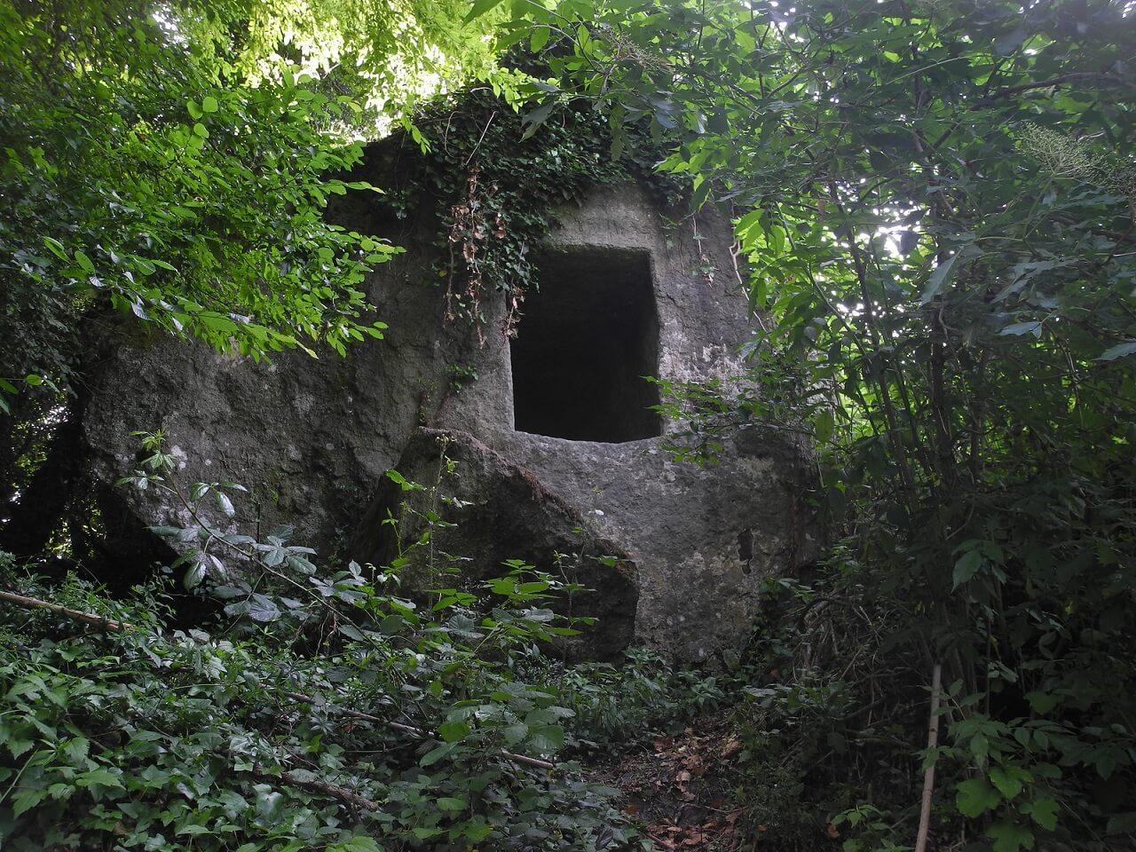 Tomba del Re e della Regina, nella selva di Malano